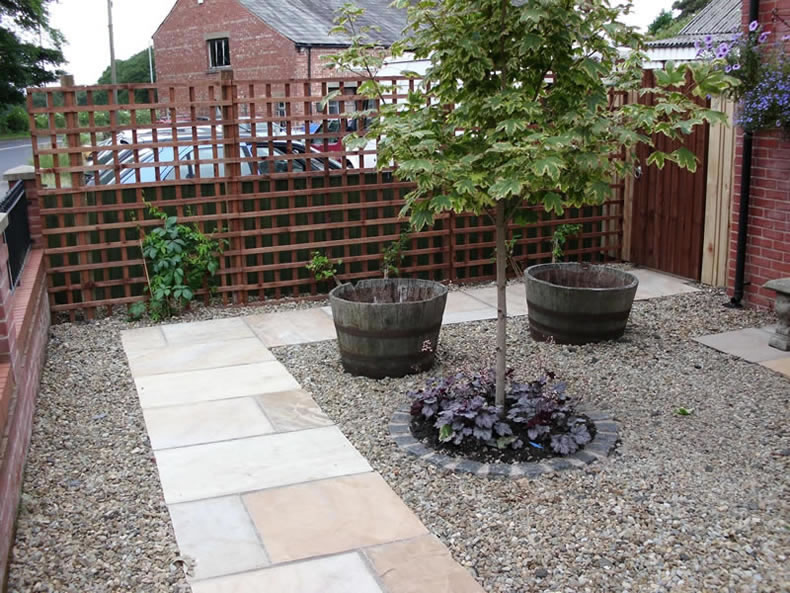 Preston garden services garden maintenance garden for Low maintenance gravel garden